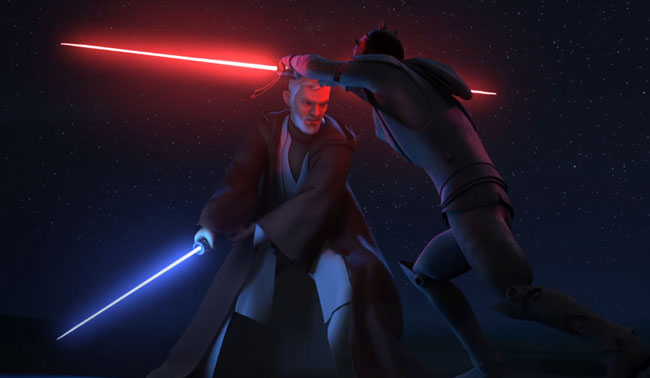 Obi Wan kills Darth Maul Star Wars Rebels