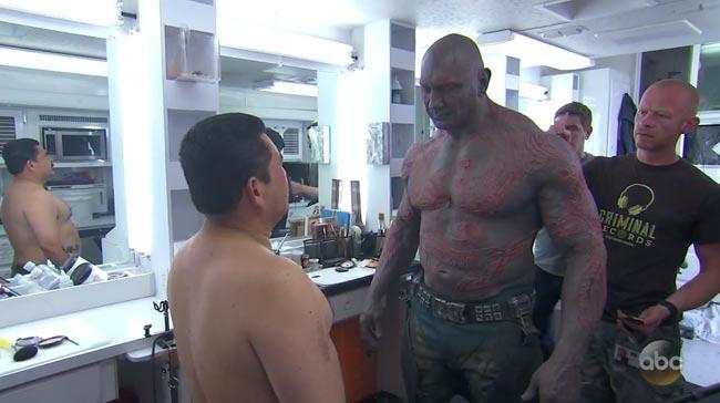 Jimmy Kimmel sidekick Guillermo in Guardians of the Galaxy Vol. 2 Drax