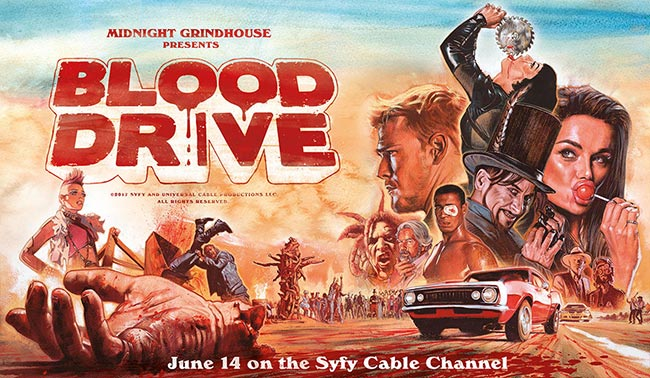 Blood Drive Syfy poster art grindhouse