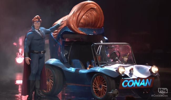Conan Flaming C superhero mobile Comic-Con West Coast Customs