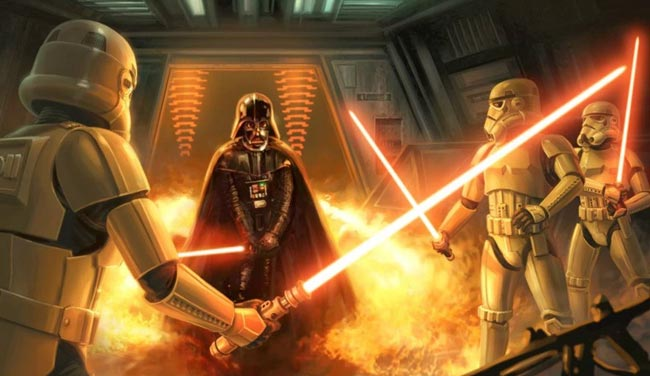Darth Vader Stormtroopers lightsabers A Two-Edged Sword