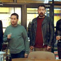 Loaded - Leon (Samuel Anderson) Josh (Jim Howick) Watto (Nick Helm) Ewan (Jonny Sweet) champagne