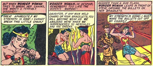 Sensation Comics 4 Wonder Woman Bracelets of Submission