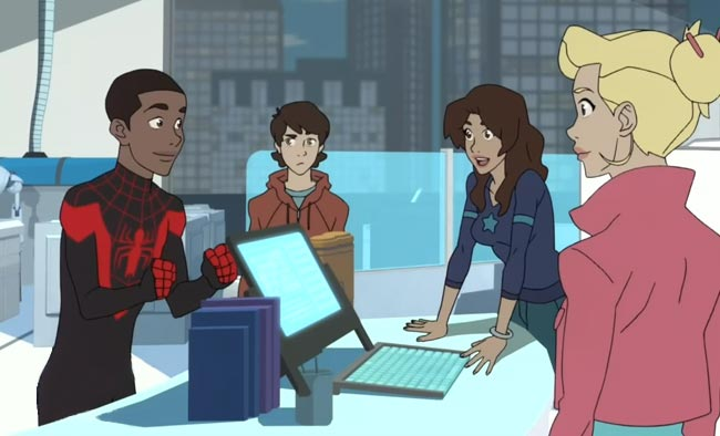 Disney XD Ultimate Spider-Man Miles Morales Peter Parker Anya Corazon Gwen Stacy