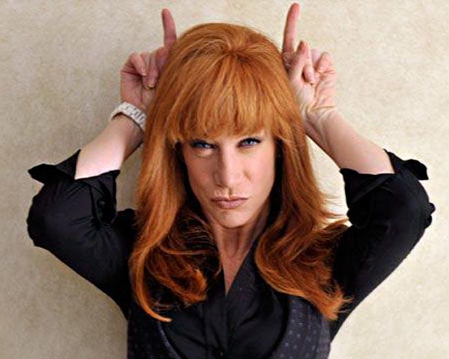 Kathy Griffin Devil horns One America News (OAN) Paul Harvey