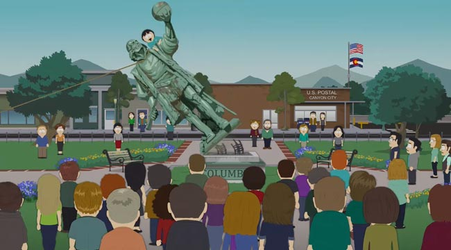 South Park Holiday Special Christopher Columbus statue