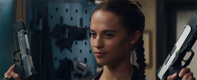 Tomb Raider movie 2018 handguns Alicia Vikander