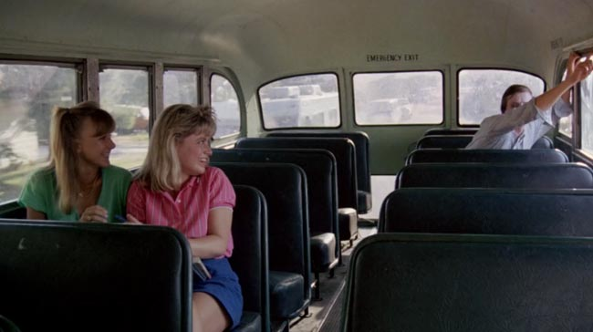 Nightmare on Elm Street 2 Freddy's Revenge Jesse (Mark Patton) bus girls JoAnn Willette Allison Barron