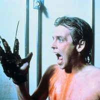 Nightmare on Elm Street 2 Freddys Revenge Mark Patton as Jesse Walsh shower glove scream