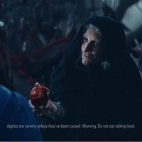 commercial disclaimers Wonderful Halos Snow White witch poison apple
