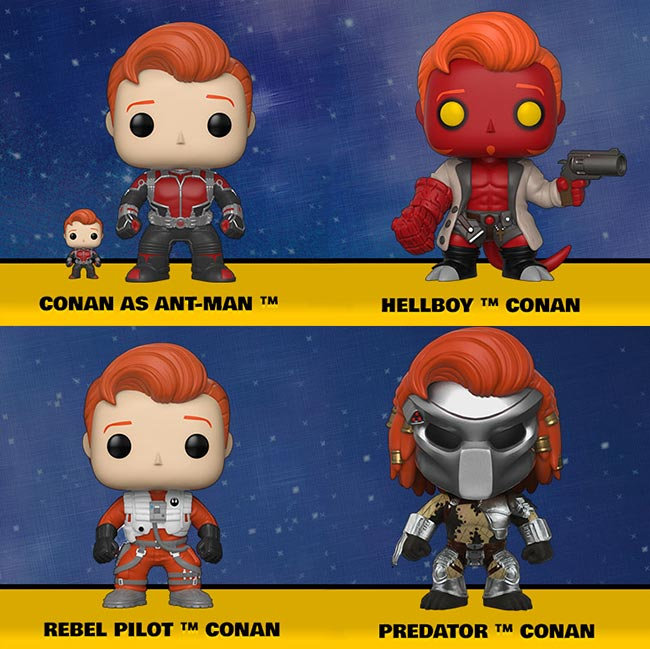 Conan Pop Funko Ant-Man Hellboy Star Wars Rebel Pilot Predator