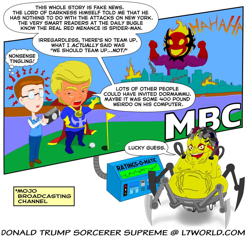What if Doctor Strange was Donald Trump 9 Peter Parker Spider-Man Mojo Dormammu