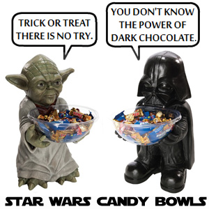 Star Wars Yoda Darth Vader Halloween Candy Bowls